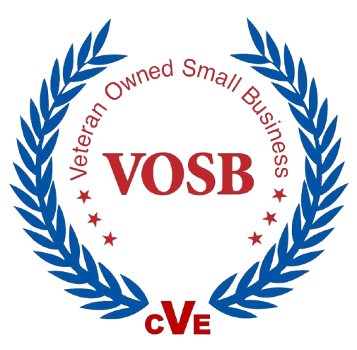 Connect with us - VOSB - Veteran Owned Small Business Logo