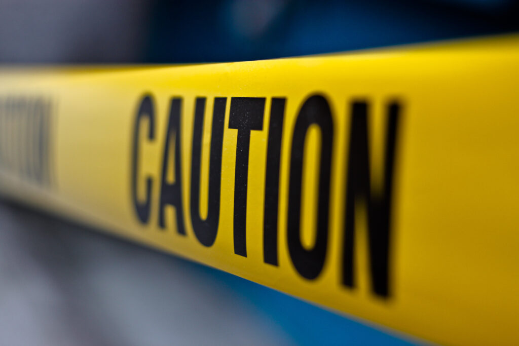 service agreements - Caution tape shows how we operate with caution.
